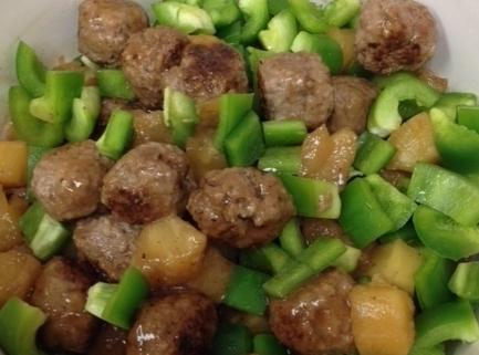 Reduce heat and add meatballs. Cover. Simmer, stirring occasionally for 10 minutes. Stir in...