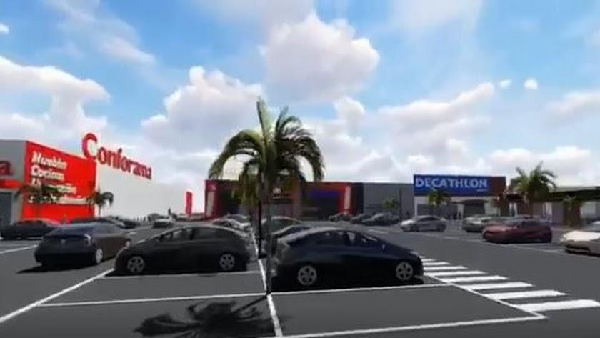 Imagen virtual del futuro Parque Comercial de El Canario.