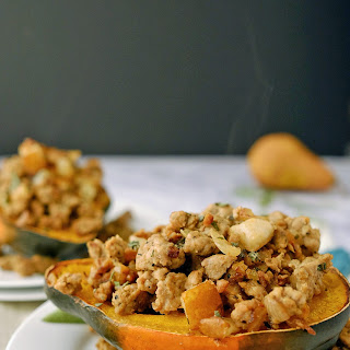 Pork and Pear Stuffed Acorn Squash