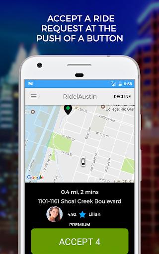 Ride Austin TNC Driver App screenshots 2