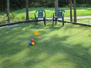 Photo: Ready to play croquet.  Get your mallets!