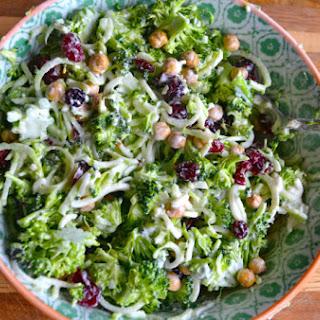 Broccoli Stem Slaw and Salad