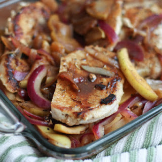 Hard Cider Pork Chops with Apples and Onions