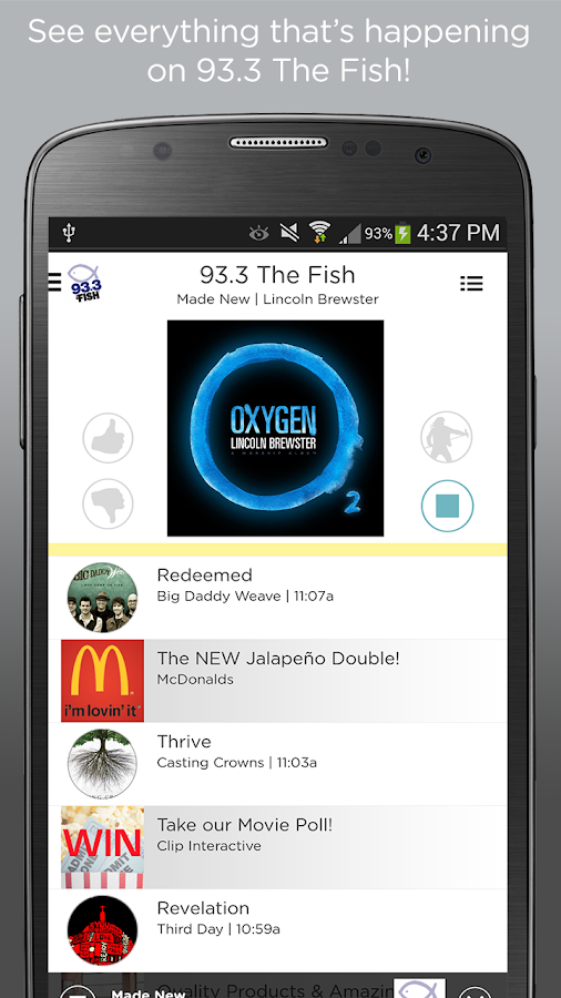93 3 the fish android apps on google play for The fish radio station