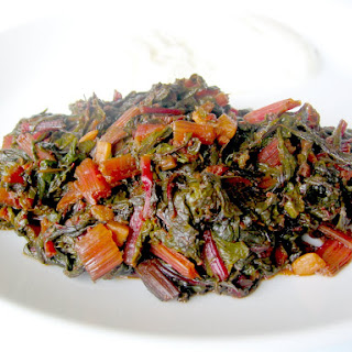 RED SWISS CHARD WITH OLIVE OIL.