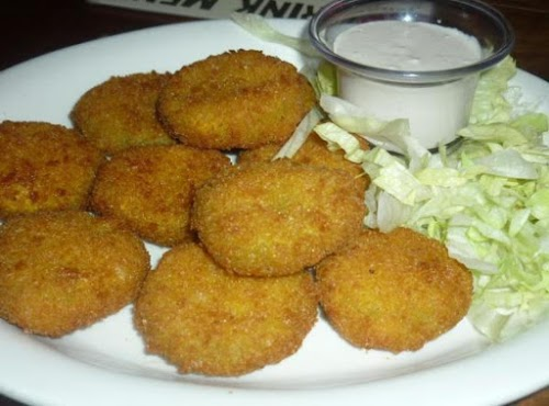 """Perfect Crunchy Deep Fried Pickles """"Amazing, my whole family loved these!"""" -..."""