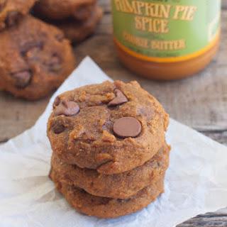 Pumpkin Chocolate Chip Cookies with Pumpkin Spice Cookie Butter.