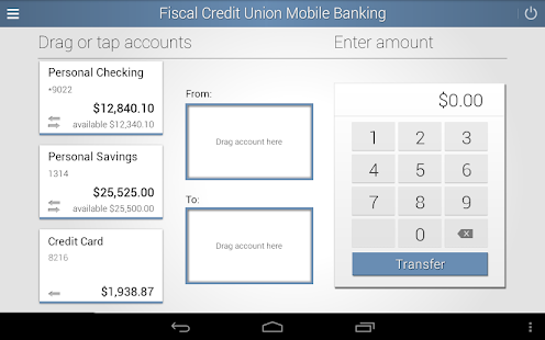 Fiscal Credit Union Mobile App- screenshot thumbnail