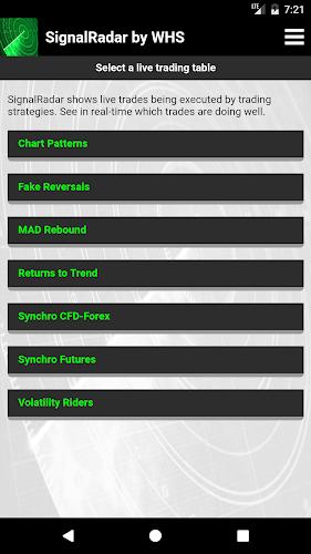 SignalRadar Android App Screenshot