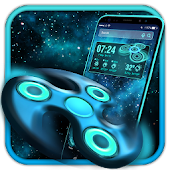 Fidget Spinner 3D Space Launcher Theme
