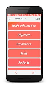 Resume / CV Generator - náhled