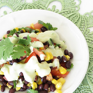 Mexican Salad with Avocado Dressing Recipe