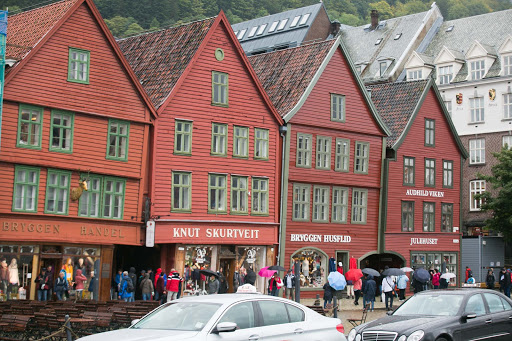 Bergen-storefronts.jpg - Traditional storefronts along the waterfront of Bergen, Norway.