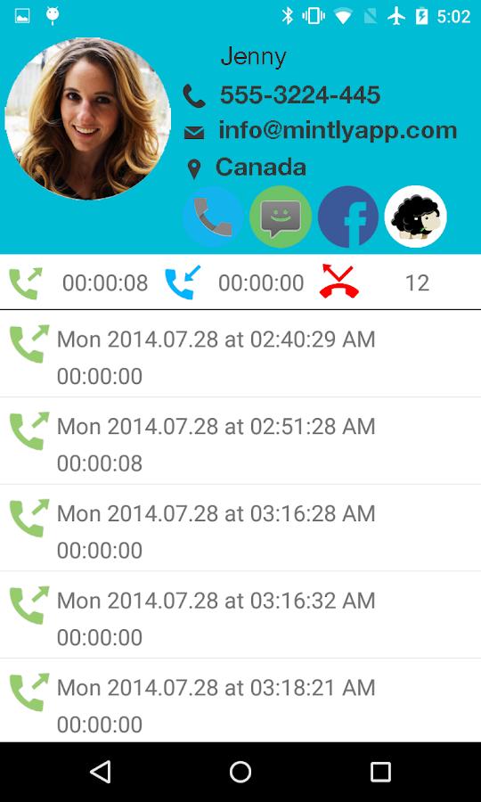 mintly: Making Caller ID fun- screenshot