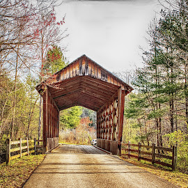 Bay's Covered Bridge 1 by Richard Michael Lingo - Buildings & Architecture Bridges & Suspended Structures ( road, covered bridge, smithgall woods, bridge, architecture )