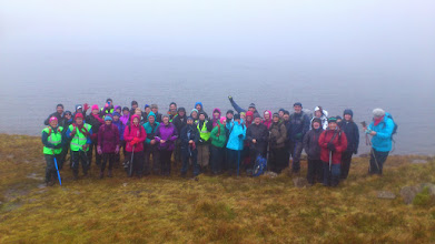 Photo: Group photo of Pat Donovan's excellent B2 walk to Lough Curra as part of the Aherlow Failte/Galtee Walking Club Festival, Sunday Feb 2nd, 2014