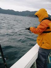 Photo: スイッチON! エンジン始動! 「ロボコップ大村」 釣り開始!