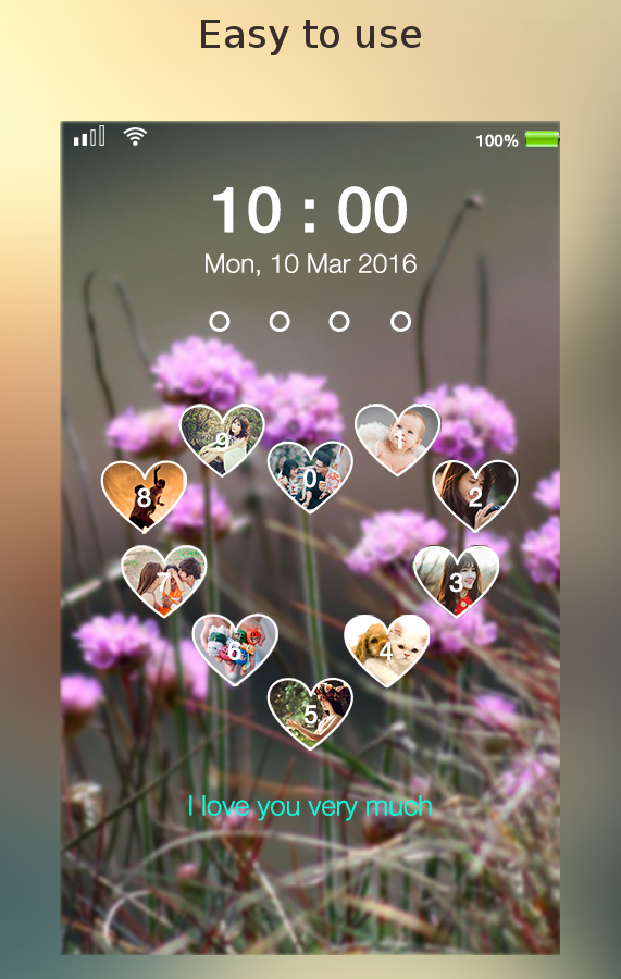 love keypad lockscreen- screenshot