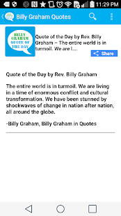 Billy Graham Quote of the Day- screenshot thumbnail