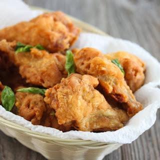 Golden Fried Chicken Wings.