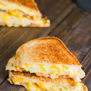 Breakfast Grilled Cheese Sandwich.