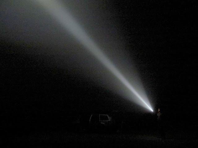 Spotlight in the fog