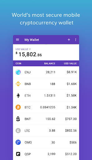 Enjin Crypto Wallet - Ethereum Bitcoin ERC20 ETH 1.3.6-r app download 1