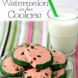 Watermelon Ice Box Cookies