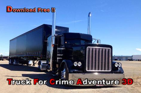 Truck For Crime Adventure 3D screenshot