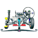 Auto parts. Automotive technologies icon