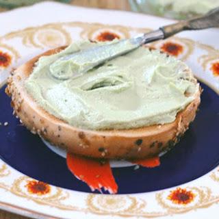 Vegan Garlic Herb Avocado Cashew Cream Cheese.
