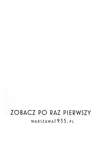 Tył ulotki filmu 'Warszawa 1935'