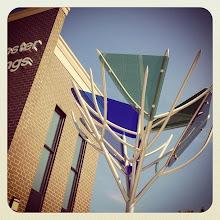 Photo: Colored glass architecture at Westminster Savings in Maple Ridge, BC, Canada #intercer #building #brick #architecture #branch #westminster #city #window #glass #urban #design #town #britishcolumbia #canada #beautiful #mapleridge #pittmeadows #blue #bank #morning #sky #color #green - via Instagram, http://instagram.com/p/edkAp_Jfvh/