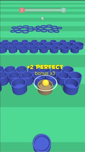 Basket throw: cup pong ball game. Toss & dunk it! ss2