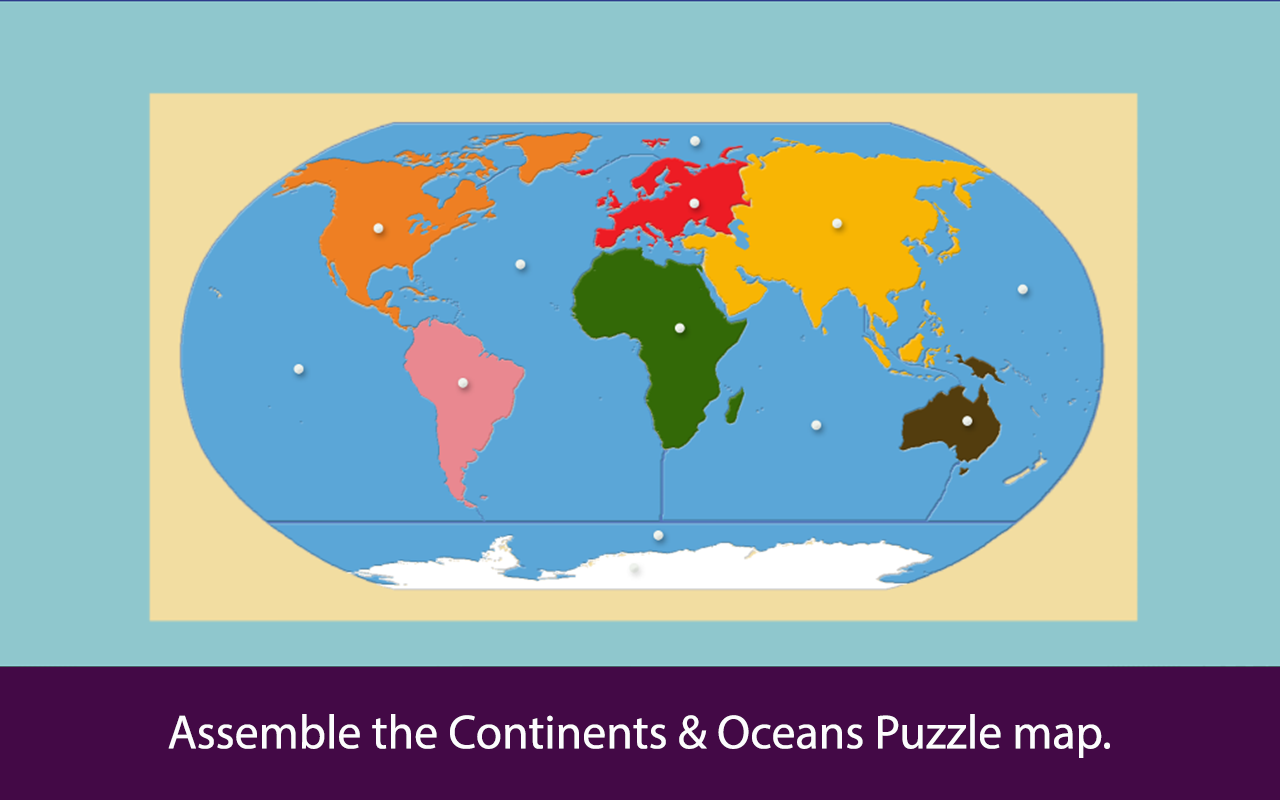 Montessori Continents & Oceans- screenshot
