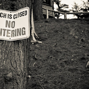 Beach closed by Noah ONeill - Landscapes Forests