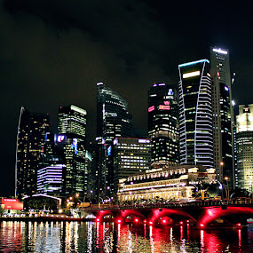 Singapore by Gettie Lomboy - Landscapes Travel ( places, travel, singapore, night scape )