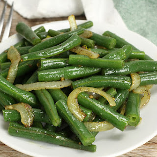 Green Beans with Onions and Garlic.