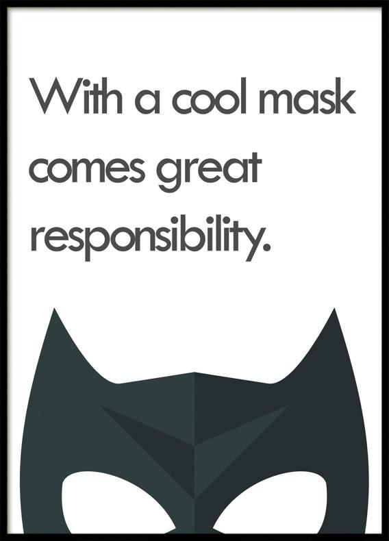A Cool Mask, Superhero, Poster