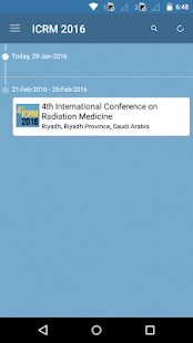 ICRM 2016 Event App- screenshot thumbnail