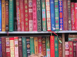 Photo: religious books next to the mosque