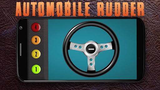 Simulator car rudder