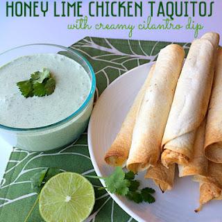Honey Lime Chicken Taquitos