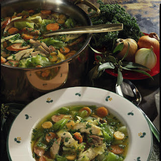 Chicken Soup with Sausage and Vegetables