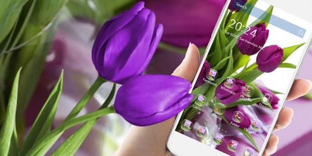 hd purple tulip wallpaper apps on google play