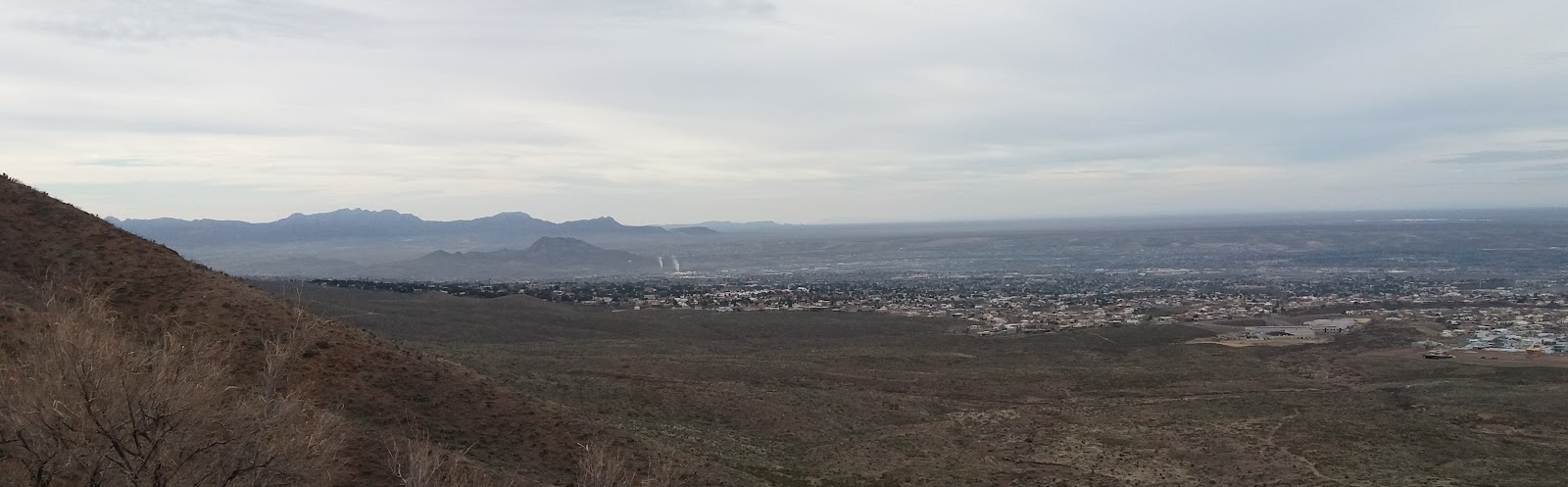 Cycling Smugglers Pass - Transmountain Drive - view of El Paso
