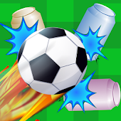 Soccer Ball Knockdown - aim, flick and tumble cans