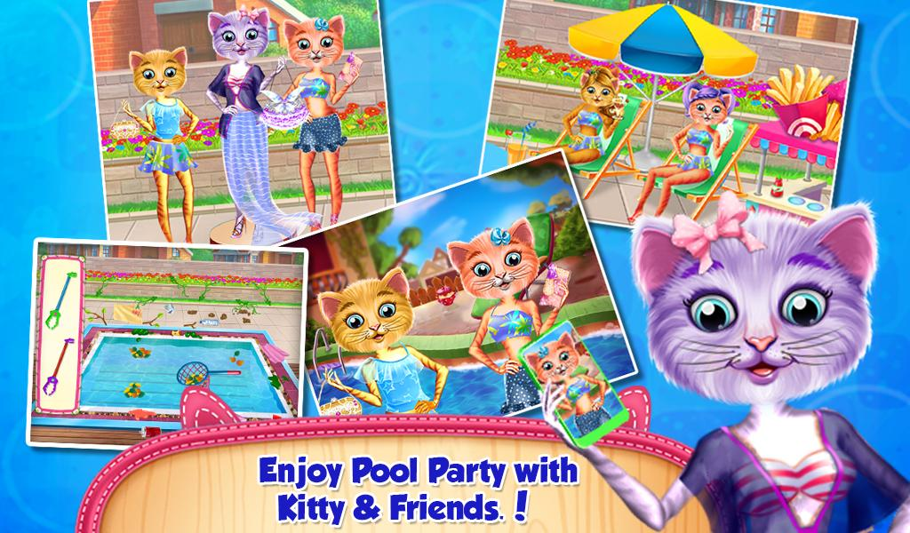 Baby Kitty Swimming Pool Party- screenshot