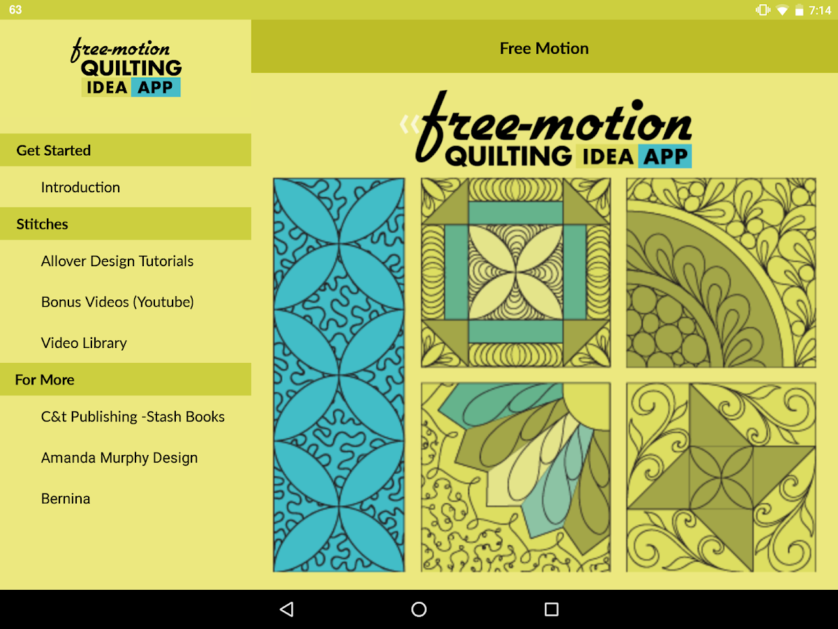 Free-Motion Quilting Idea App- screenshot