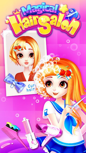 Magical Hair Salon: Girl Makeover  captures d'écran 2